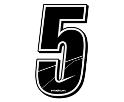 Number Sticker H5cm - BLACK